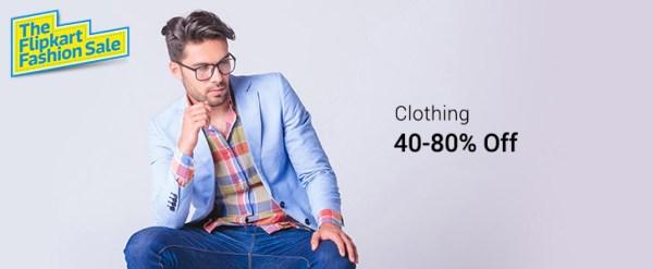 Men's Clothing Min 40% Off Upto 80& OFF