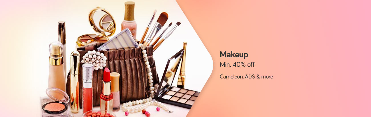 Min. 40% Off on Cosmetics - Cameleon, ADS & More...