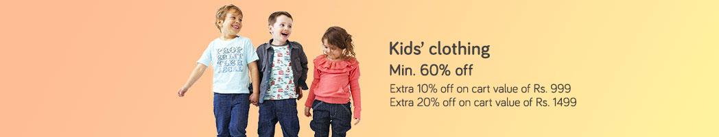 Kid's Clothing - Min 60% off